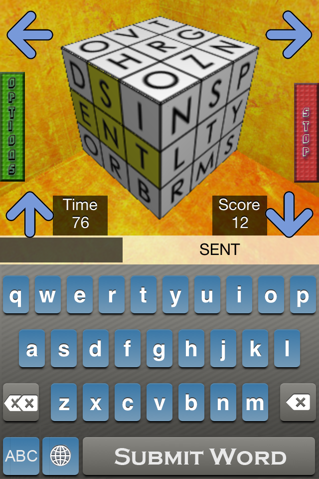Screenshot 3D Word Cube *Free* Boggle Your Mind